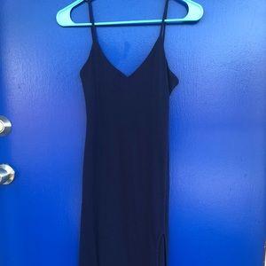 3cc5b199fd Navy blue midi dress